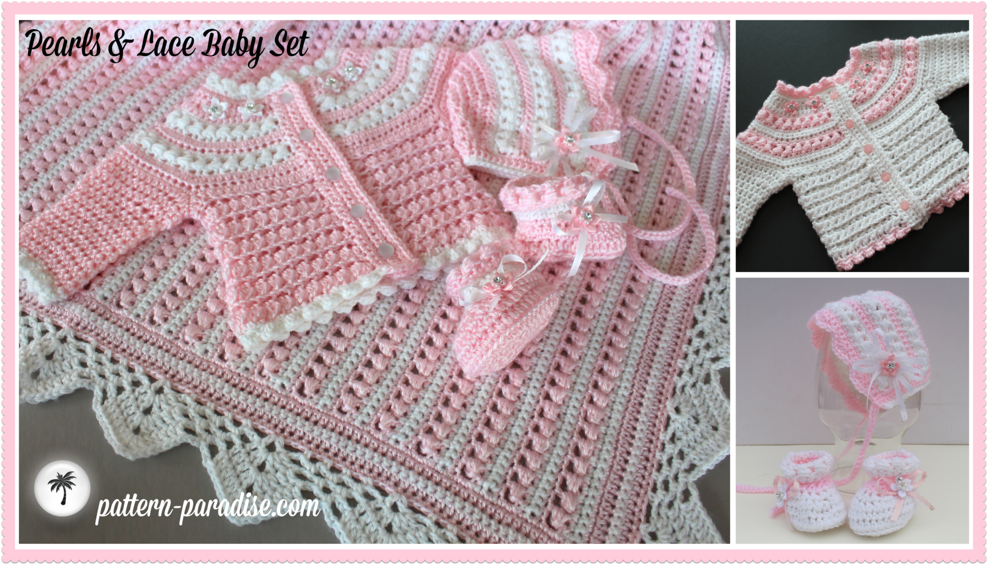 Free Crochet Patterns For Newborn Layette : Crochet Lace Sweater Patterns For Baby ...