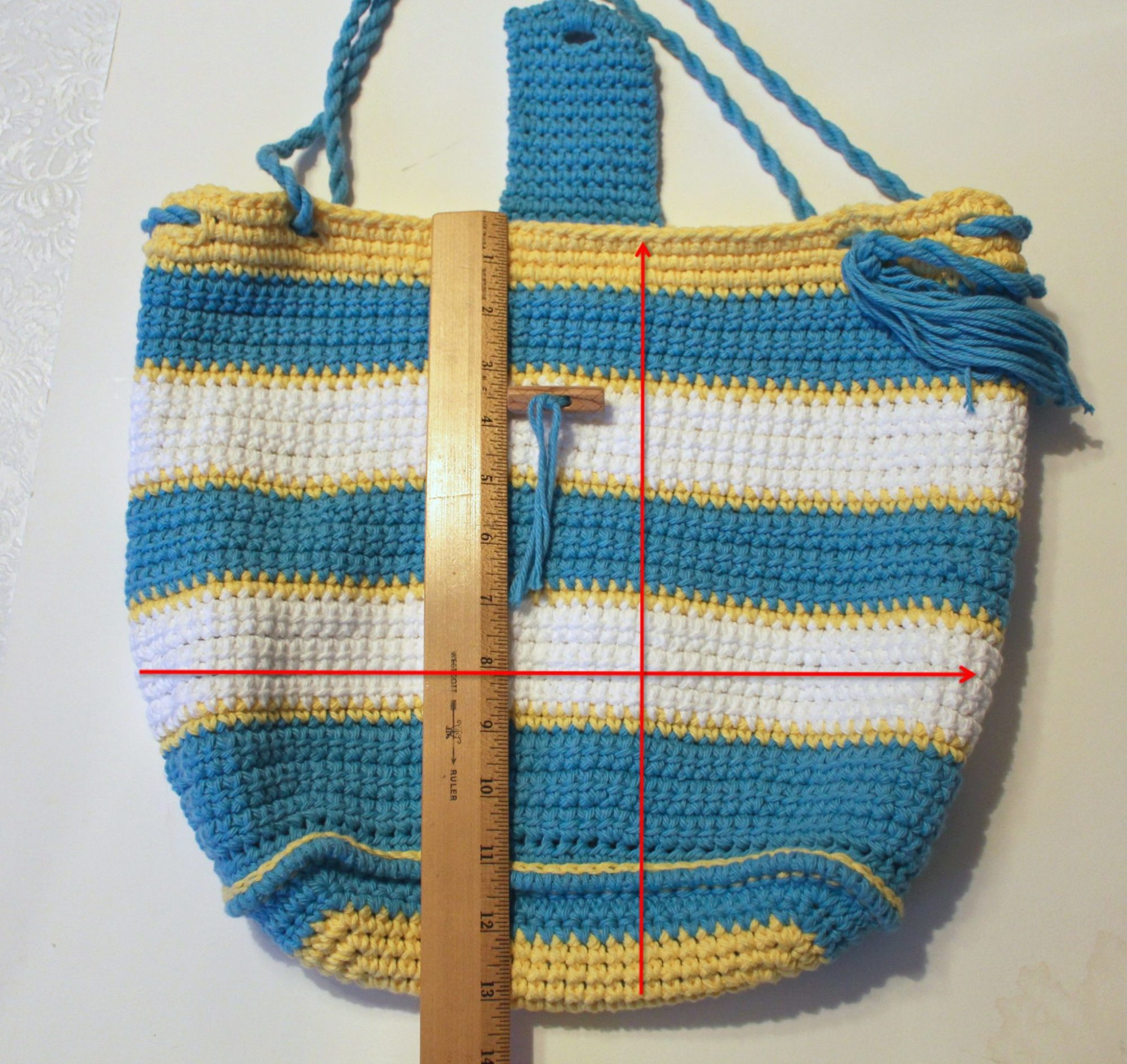 Lining Crochet Bag : Tutorial: How to Line a Crocheted Bag Pattern Paradise
