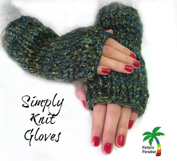 Free Knitting Patterns For Gloves : FREE Knit Pattern - Simply Knit Gloves Pattern Paradise
