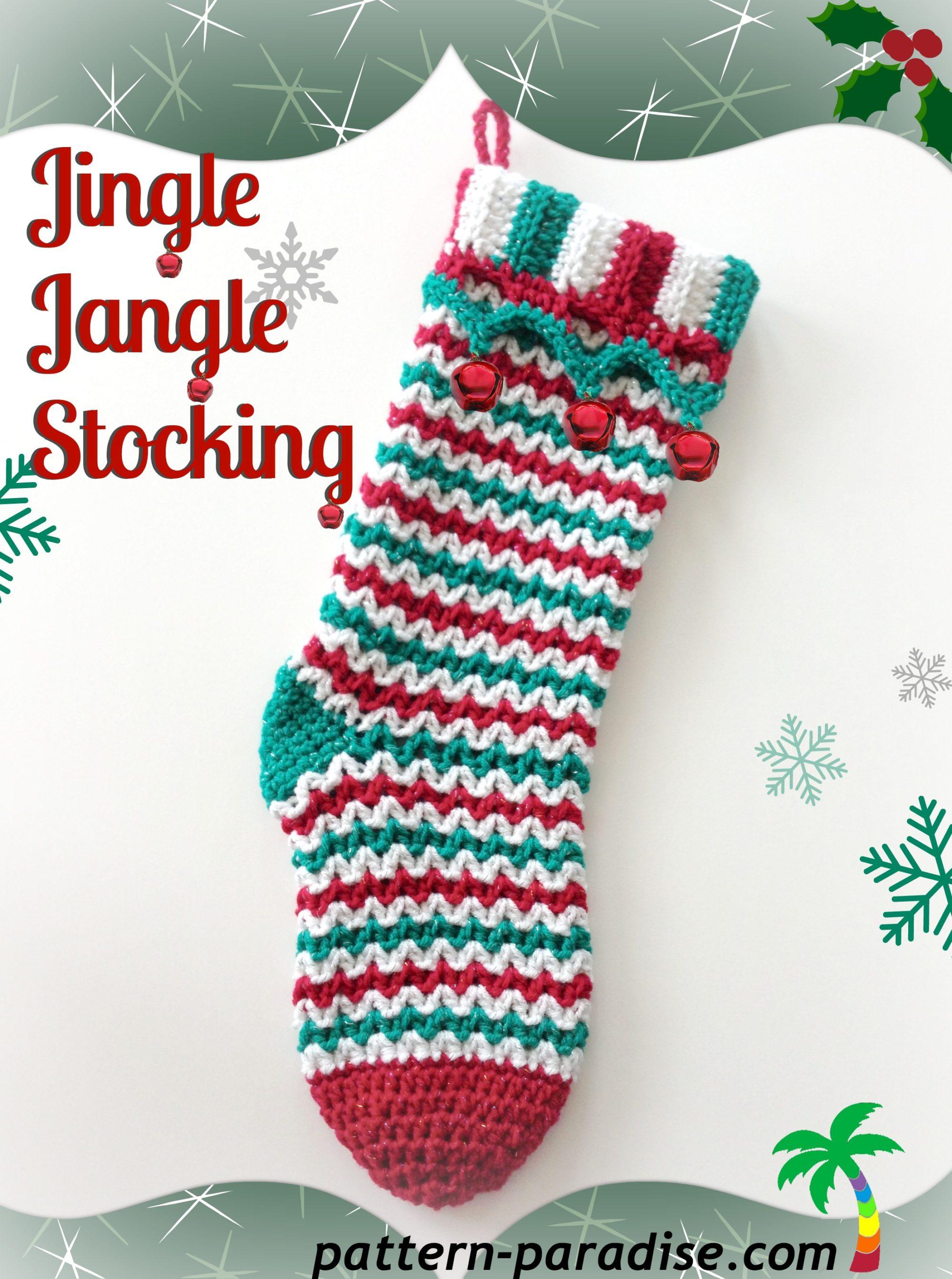 New Crochet Pattern Jingle Jangle Stocking Pattern