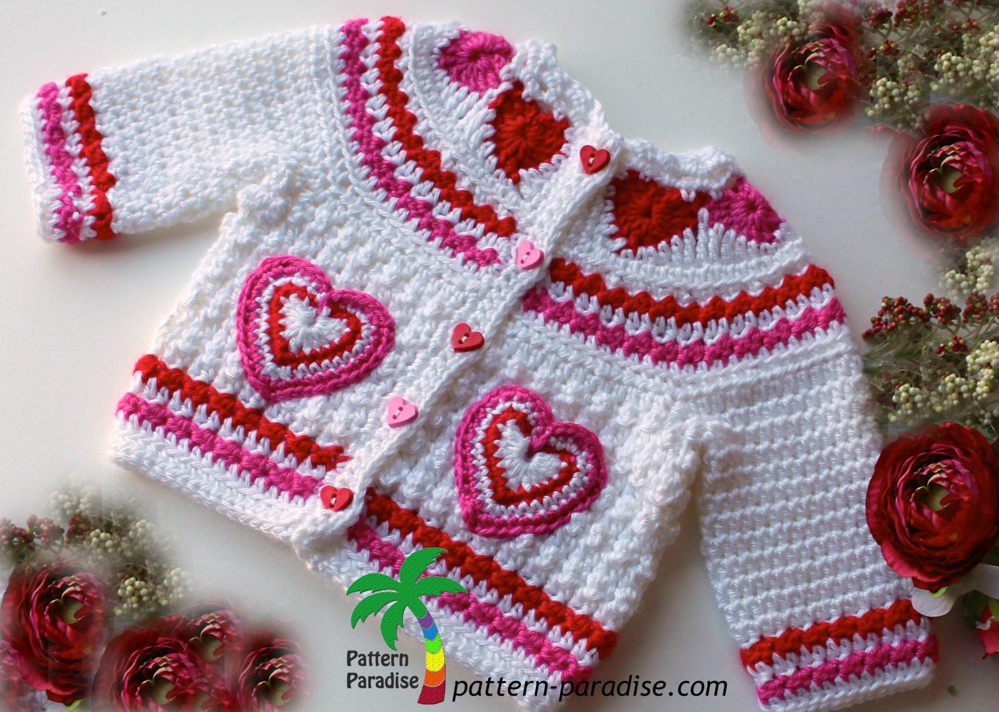 Valentine s Day Crochet Patterns : Crochet Pattern - Valentines Love Pattern Paradise