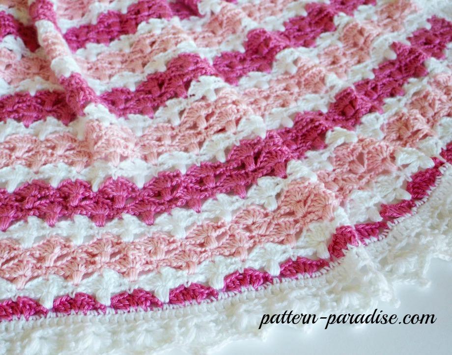 Crochet Pattern Jasmine Baby Blanket Pattern Paradise