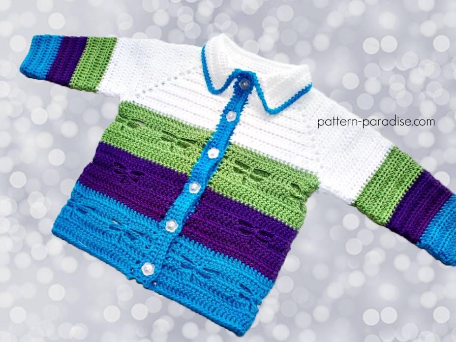 Free Crochet Pattern Dragonfly Jacket Pattern Paradise