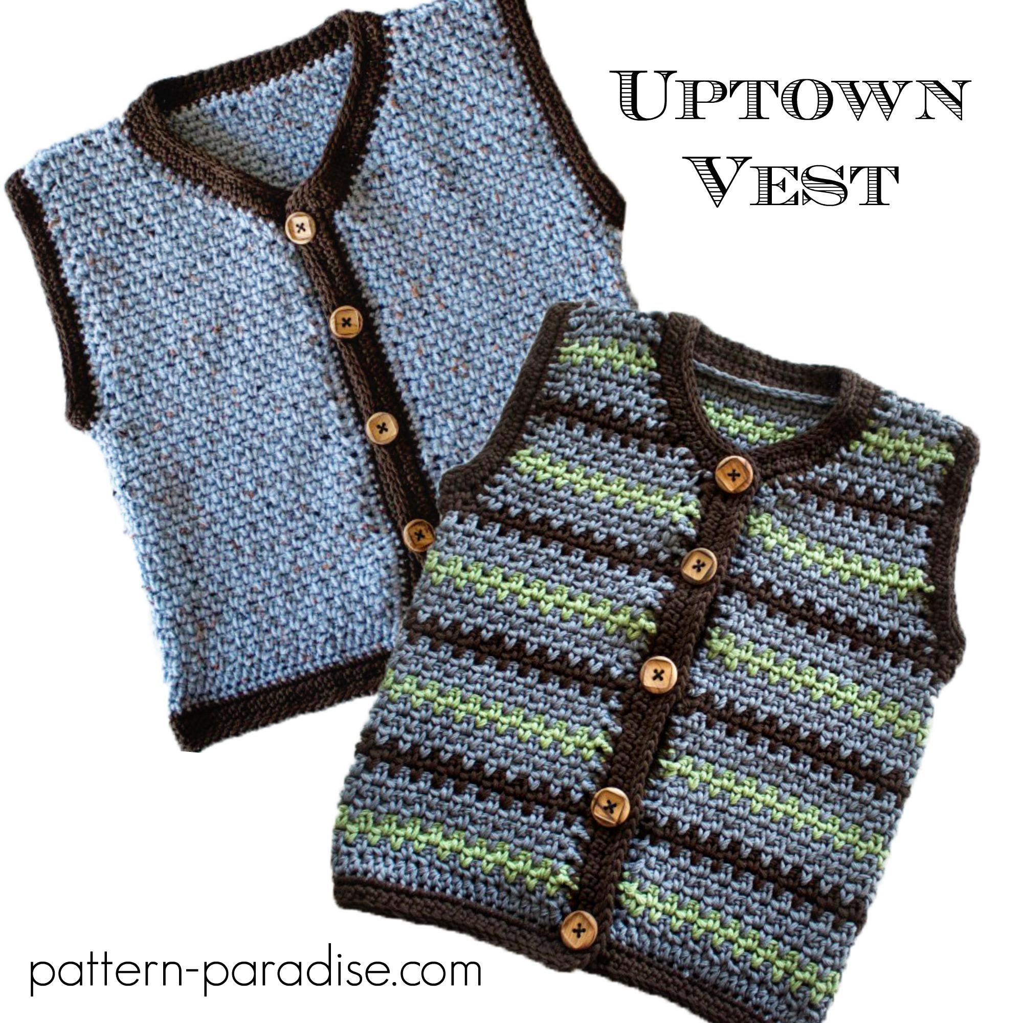 Crochet Pattern Uptown Sweater Vest Pattern Paradise