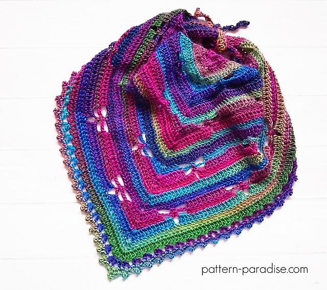 Free Crochet Pattern Dragonfly Bandana Cowl Pattern