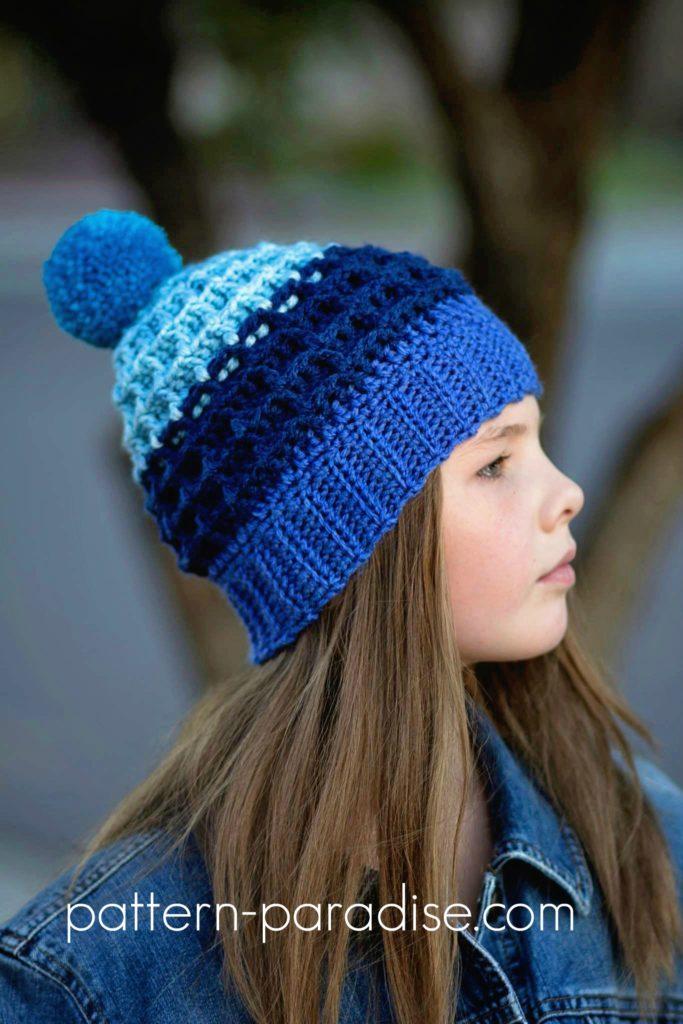Free Crochet Pattern Alpine Nights Beanie Pattern Paradise