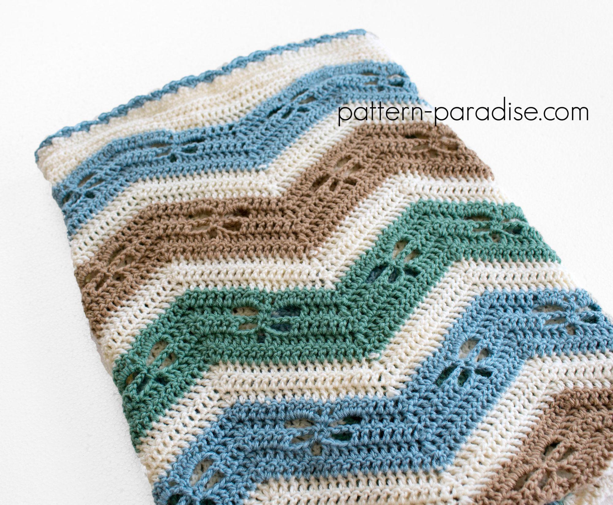 Free Crochet Pattern Dragonfly Chevron Baby Blanket Pattern Paradise