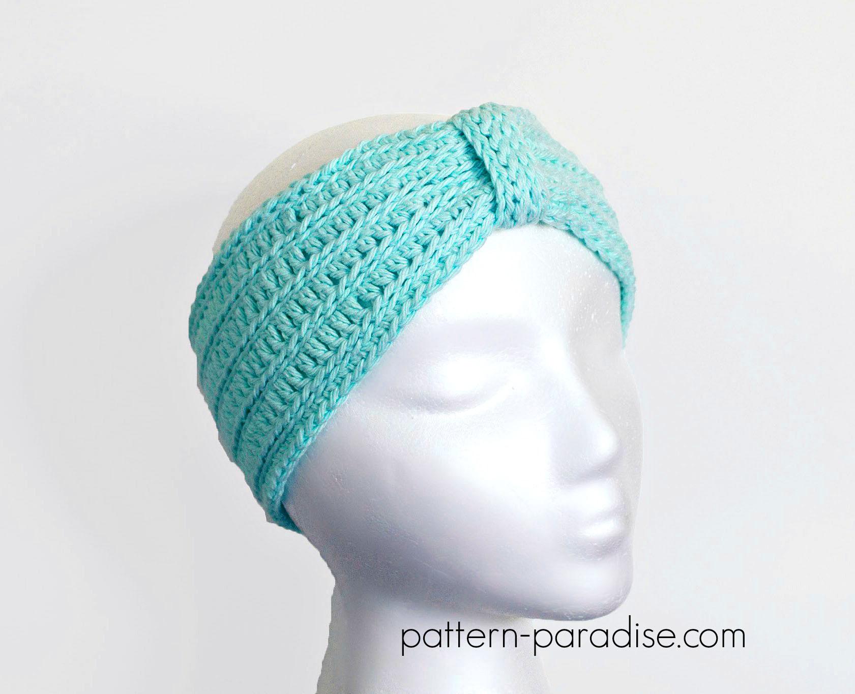 Free Crochet Pattern Tranquility Turban Headband