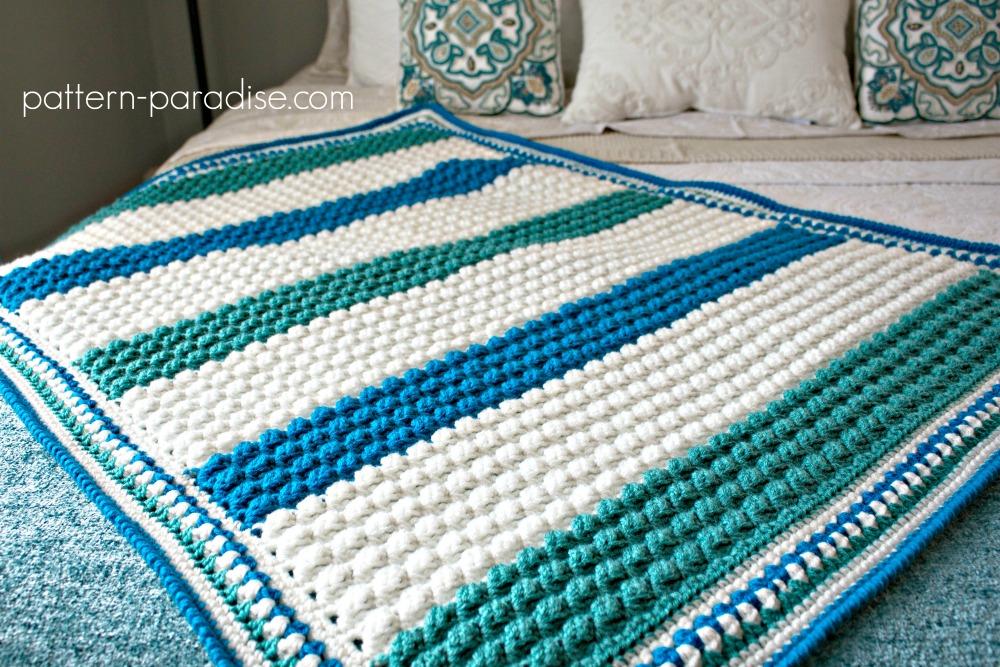 Free Crochet Pattern Blue Hawaiian Baby Blanket Pattern