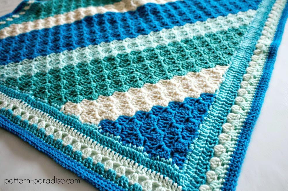 Free Crochet Pattern: Crochet Casserole C2C Blanket ...